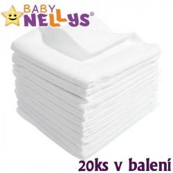 Kvalitní bavlněné pleny Baby Nellys - TETRA BASIC 70x80cm, 20ks v bal.