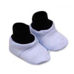 Botičky/ponožtičky,Little prince bavlna - modro/šedé