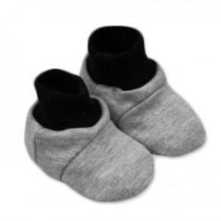 Botičky/ponožtičky,Little prince/princess bavlna - šedé