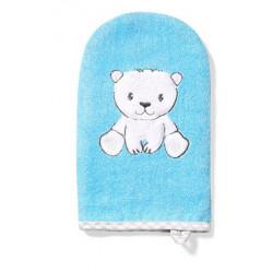 BabyOno Bambusová žínka Medvídek - modrá