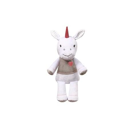 Baby Ono Plyšová hračka s chrastítkem Jednorožec, 60 cm - bílý