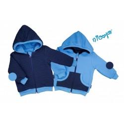 Dětská bunda Nicol oboustranná, Car - granát/modrá