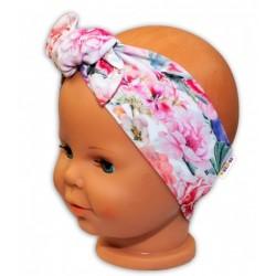 Baby Nellys Čelenka na zavazování Květiny - růžové