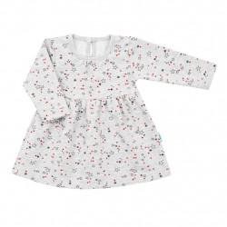Kojenecké šatičky s dlohým rukávem New Baby For Girls hvězdičky