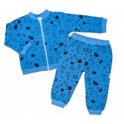Bavlněná tepláková souprava Baby Nellys ® - Cool Baby, modrá