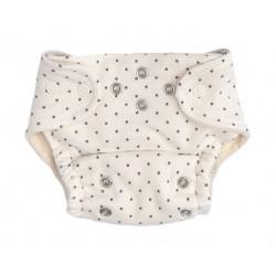 Mamatti Látková plenka EKO sada - kalhotky + 2 x plenka, vel. 3 - 8 kg, Dots
