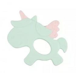 Silikonové kousátko Canpol Babies Jednorožec, zelený