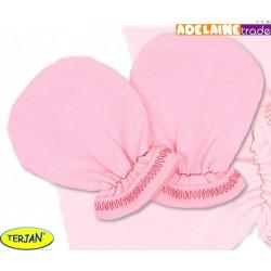 Rukavičky bavlna Terjan - růžové, vel. 1