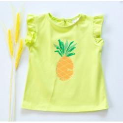 K-Baby Dětské bavlněné triko, krátký rukáv - Ananas - limetka