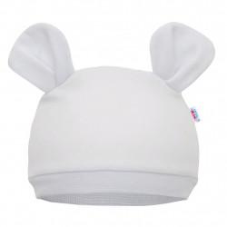 Kojenecká čepička New Baby Mouse bílá