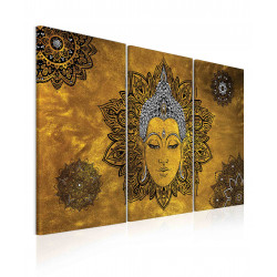 InSmile Obraz mandala žlutý Buddha