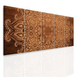 InSmile Vícedílný obraz - Mandala na dřevě 150x60