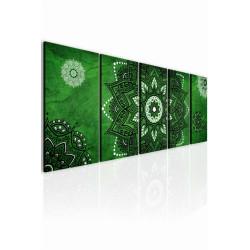 InSmile Obraz kouzelná mandala zelená 150x60