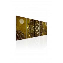 InSmile Obraz kouzelná mandala zlatá 150x60