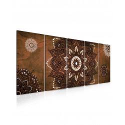 InSmile Obraz kouzelná mandala hnědá 150x60