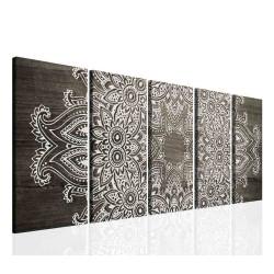 InSmile Obraz mandala šedé dřevo 150x60