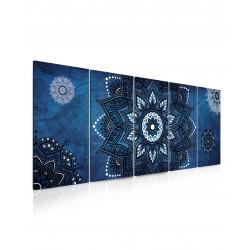 InSmile Obraz kouzelná mandala modrá 150x60