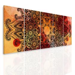 InSmile Vícedílný obraz - Mandala na akvarelu V 150x60