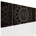 Murando Deluxe Moderní obrazy na zeď - bronzová mandala 150x60