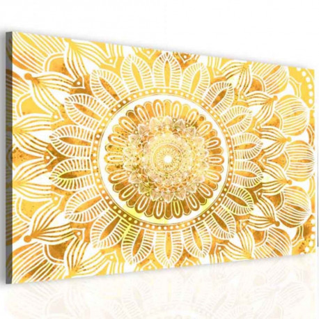 InSmile Obraz mandala zlaté slunce
