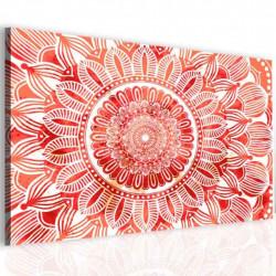 InSmile Obraz mandala červené slunce