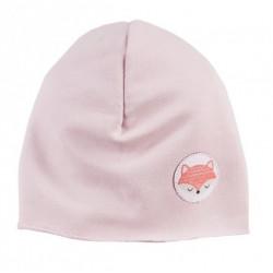 EEVI Dětská jarní/podzimní bavlněná čepice - Adventure Liška - sv. růžová