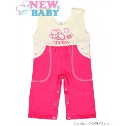 Dětské lacláčky New Baby Happy malinové