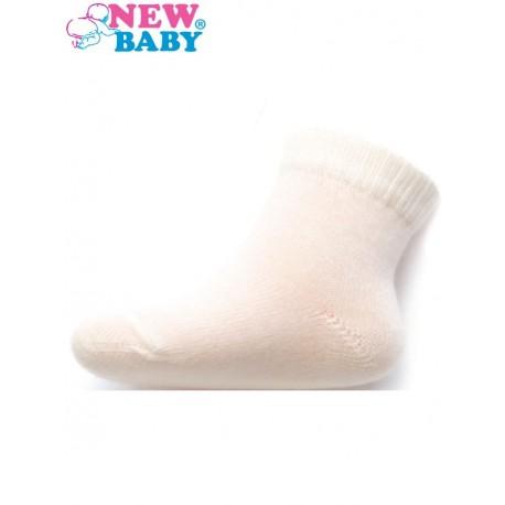 Kojenecké bavlněné ponožky New Baby bílé