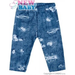 Kojenecké bavlněné legíny New Baby Light Jeansbaby modré