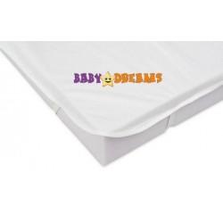 Baby Nellys Chránič matrace 120x60cm, bílý - kolekce Baby Dreams