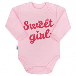 Body s potiskem New Baby Sweet girl růžové