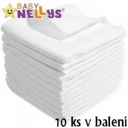Kvalitní bavlněné pleny Baby Nellys - TETRA LUX vel:80x80cm LUX, 10 ks v balení - 100% BAVLNA